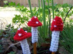 free pattern because everyone needs crocheted mushrooms