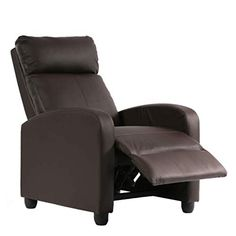 New Recliner Chair Living Room Home Theater Seating Single Reclining Sofa Lounge Padded Seat Backrest (Brown) online - Tophitsfurniture Living Room Home Theater, Home Theater Seating, Living Room Chairs, Couch With Chaise, Lounge Sofa, Sofa Chair, Recliner Chairs, Bedroom Furniture Sets, Sofa Furniture