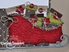 Stampin' Up!  Top Note Sleigh  Carrie Sampsel  Christmas