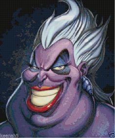 Disney's Little Mermaid Ursula Cross Stitch Pattern-Villains #KeenahsCrossStitch