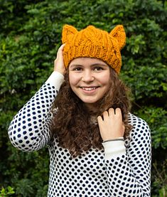 Ravelry: Cabled Cat Ears Hat pattern by Lorna Watt