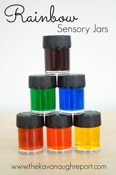 Rainbow Sensory Jars -- An Introduction to Colors