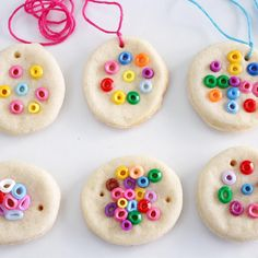 Salt Dough Jewelry. This is such an easy salt dough recipe for kids to make.