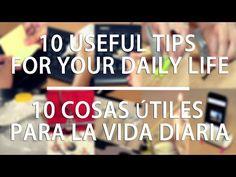 10 cosas útiles par tu vida diaria / 10 useful tips for your daily life - YouTube