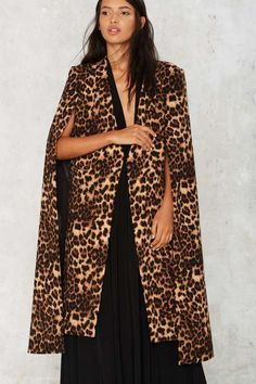 Lavish Alice On the Fly Cape Jacket - Leopard - Jackets + Coats