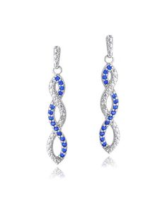 Look at this #zulilyfind! Blue Lab-Created Sapphire & Diamond-Accent Infinity Earrings #zulilyfinds