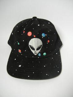 Vintage Alien Hat Outerspace 90's Galaxy by littleraisinvintage, $11.00