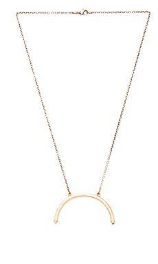 2 Bandits Half Turn Pendant Necklace in Gold & Black Onyx | REVOLVE