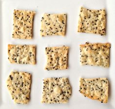 Black Sesame and Coconut Crackers