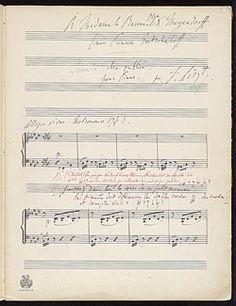 Liszt, Franz, 1811-1886. Valses oubliées. No. 2 . Valse oubliée, no. 2 : copyist's manuscript, 1883 July 23.