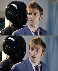 David Tennant is surprised by Daft Punk. -ASF
