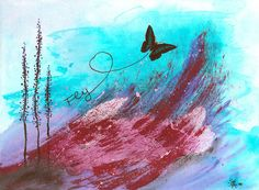 Fly Acryl auf Leinwand