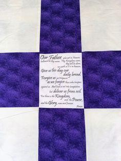 Back of prayer quilt