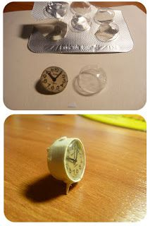 Galchi's miniatures, great idea for clock face glass