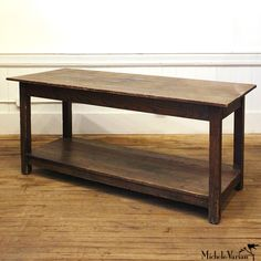 Vintage Wooden Work Table by Michele Varian