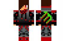 minecraft skin RED-MONSTER