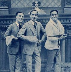 Charlie Chaplin, Al Jolson and Douglas Fairbanks. Hooray For Hollywood, Golden Age Of Hollywood, Old Hollywood, Classic Hollywood, Silent Film Stars, Movie Stars, Charles Spencer Chaplin, Douglas Fairbanks, Bad Memories