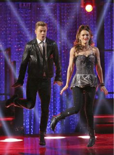 Amy Purdy and Derek Hough Swing dance on week 2 of 'Dancing With The Stars' on March 24, 2014. They received 24 out of 30 points from the judges.
