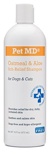 Pet MD  Oatmeal Dog Shampoo with Aloe Vera and Coconut Oil, 16 oz *** Details can be found by clicking on the image.