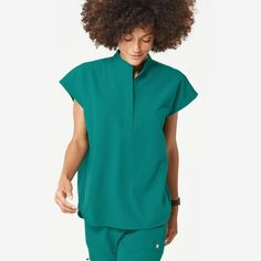 With its clean, draped silhouette, the Rafaela scrub top showcases contemporary shirt features like a mandarin collar and shirttail hem. Scrub Suit Design, Scrubs Outfit, Lip Scrub Homemade, Womens Scrubs, Scrub Tops, Mandarin Collar, Classy Women, Fashion Advice, Along The Way