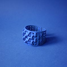 3d print  bracelet impression 3d bleu Designer Line Pierron #bracelet #design #texture #pattern #3d #3dprinting #textureart  #design #bracelet #bijoux