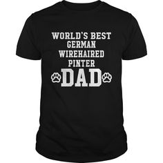 Get yours cool World's Best German Wirehaired Pointer Dad Best Gift Shirts & Hoodies.  #gift, #idea, #photo, #image, #hoodie, #shirt, #christmas