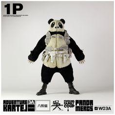 Panda Merc One Handsome Wu fully zipped
