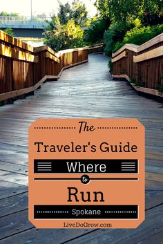 Wondering where to run when you travel to Spokane Washington? Run along the Spokane Centennial trail.