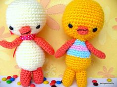 Chick and Duck by jennyandteddy