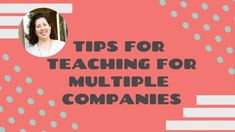 Tips for Teaching for Multiple ESL Companies Esl, Teaching, Tips, Youtube, Education, Youtubers, Youtube Movies, Onderwijs, Learning