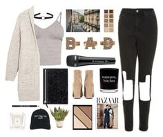 """Untitled #2819"" by tacoxcat ❤ liked on Polyvore featuring Topshop, BasicGrey, LORAC, Rare London, Sennheiser, Damselfly Candles, Yves Saint Laurent, Elizabeth Arden, John-Richard and Nasaseasons"