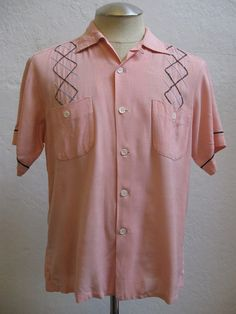 Hey, I found this really awesome Etsy listing at https://www.etsy.com/listing/180803538/mens-1950s-pink-cali-fame-atomic-design