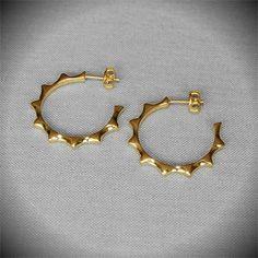 Hoop Earring - Gold Plated Silver  #hoop #earrings #elegance #gift
