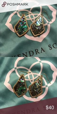 KS earrings Blue & Green Shell like earrings! Kendra Scott Jewelry Earrings