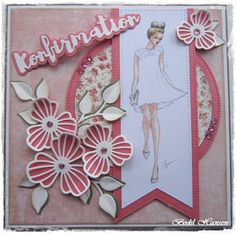 Bodil Hansen: Konfirmationskort Homemade Greeting Cards, Diy Cards, Card Making, Arts And Crafts, Prints, How To Make, Inspiration, Scrapbooking, Tags