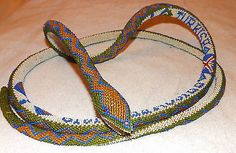 1918 TURKISH PRISONER OF WAR WW1 GLASS BEAD WORK SNAKE (73 inch long) in Antiques, Collectables | eBay