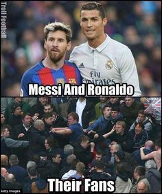 Tag a Cristiano Ronaldo and Leo Messi fan who always fight #soccermemes