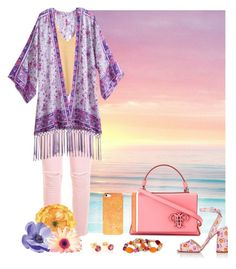 """Purple, Orange & Pink"" by savousepate ❤ liked on Polyvore featuring Isharya, Emilio Pucci, Current/Elliott, RVCA, Prada and Erica Lyons"