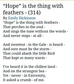Love this poem by Emily Dickinson