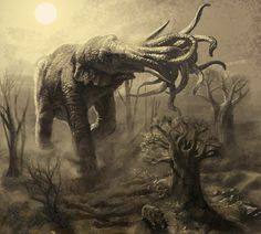 Cthonian Elephant by Sonofamortician of DeviantArt.com