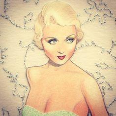 Closeup of my Constance Bennett paper doll...