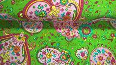 Stoff Herzen - Jersey Stoff Fabrics Herzen Hearts moosgrün ros... - ein Designerstück von Stoffe-guenstig-kaufen bei DaWanda