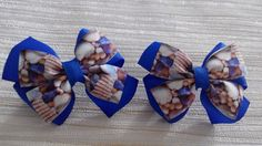 Hair Bow Boutique with Sea Stones Hair Bow School от JuliaBabyShop