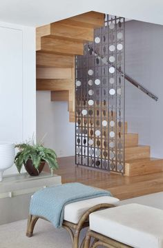 Top 10 Unique Modern Staircase Design Ideas for Your Dream House Stair Railing Design, Staircase Railings, Interior Stairs, Home Interior Design, Door Design, House Design, Room Partition Designs, Modern Stairs, Contemporary Stairs
