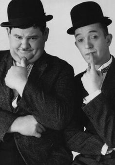 Stan Laurel and Oliver Hardy Laurel And Hardy, Stan Laurel Oliver Hardy, Great Comedies, Classic Comedies, Comedy Duos, Comedy Tv, Classic Hollywood, Old Hollywood, Famous Duos