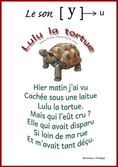 Nursery Rhyme [y] - sounds in kindergarten . French Teaching Resources, Teaching French, French Language Lessons, French Lessons, How To Speak French, Learn French, French Poems, French Education, Phonics Reading