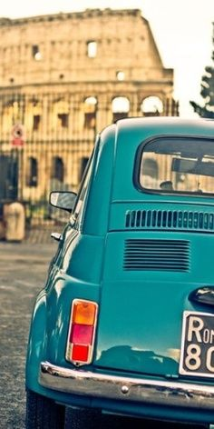 Fiat 500 | Rome That's what I drive and appreciate.