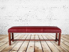 Red leather bench - Seating