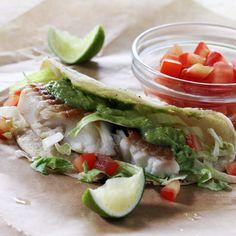 Fish Tacos with Creamy Avocado Salsa | Recipes & Menus | Construye El Mejor Nido