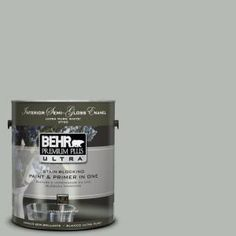 BEHR Premium Plus Ultra 1-Gal. Home Decorators Collection Keystone Gray Semi-Gloss Enamel Interior Paint-375401 at The Home Depot
